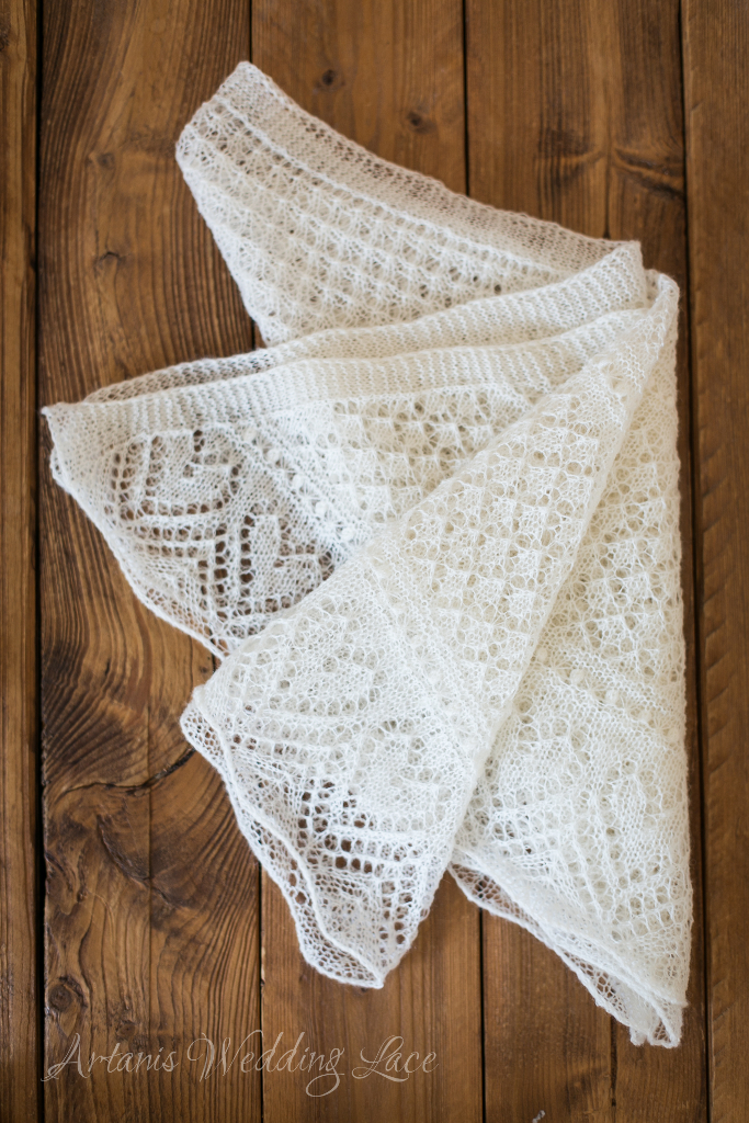 Wedding Scarf - Heart Pattern1.3 - Artanis Wedding Lace