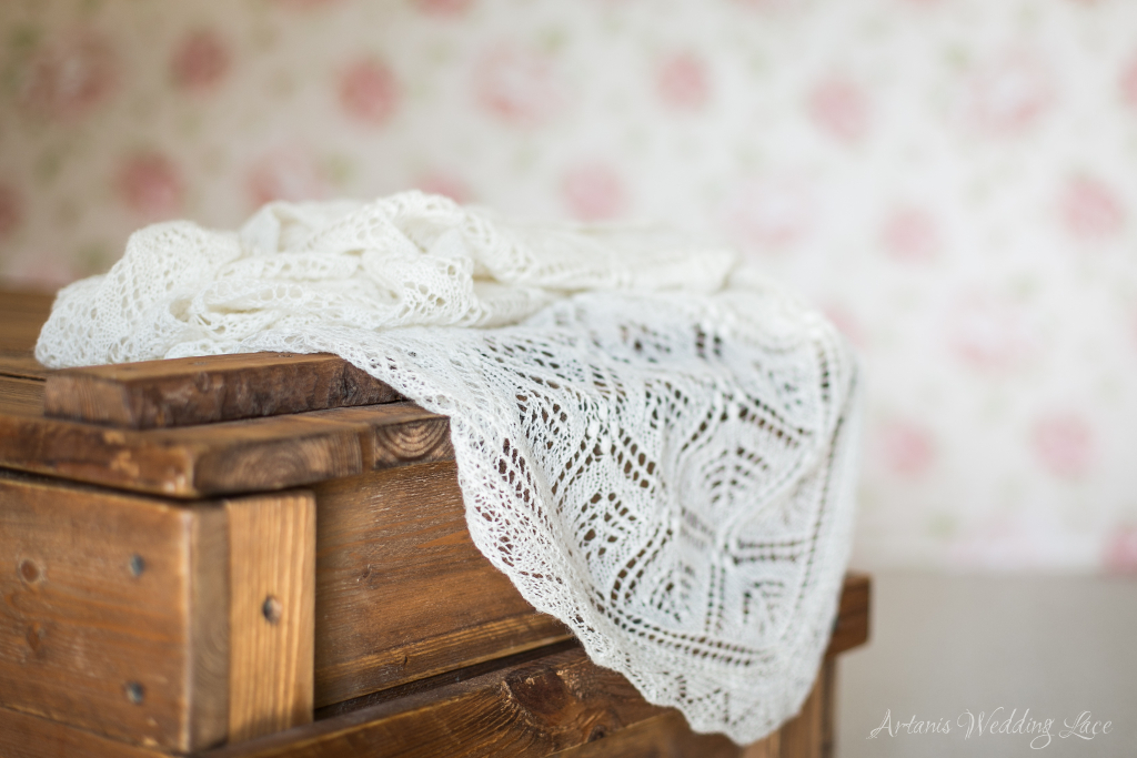 Wedding Scarf - Spruce pattern1.1 - Artanis Wedding Lace