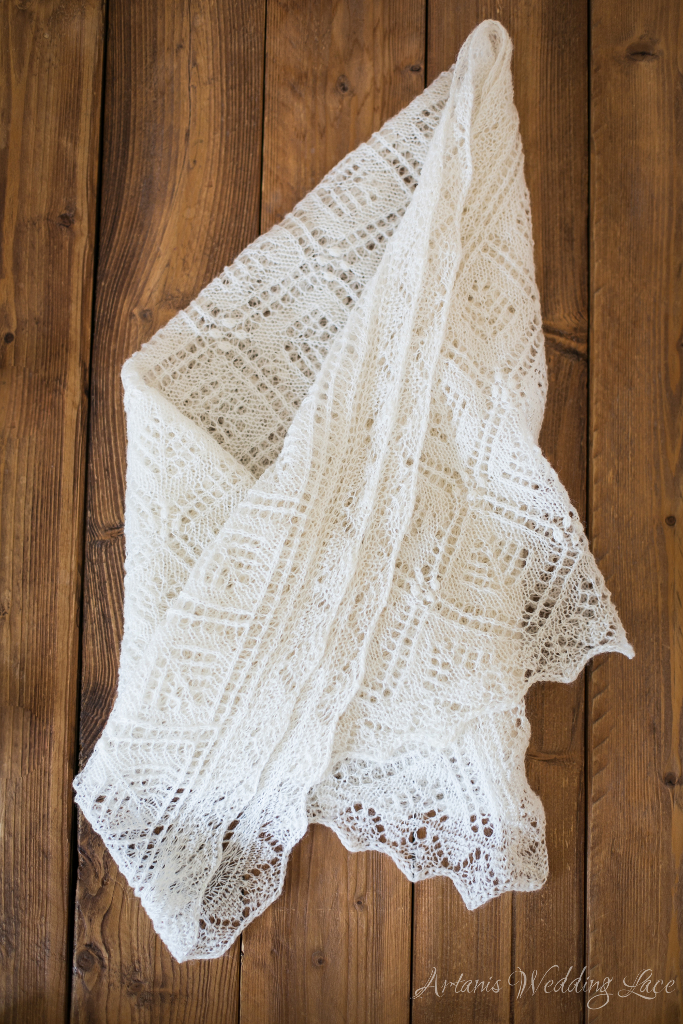 Wedding Scarf - Spruce pattern1.2 - Artanis Wedding Lace