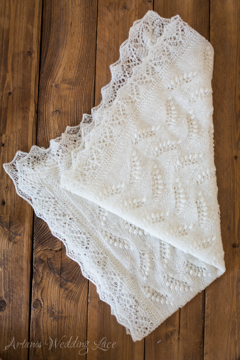 Wedding Shawl - Lily of the Valley1.5 - Artanis Wedding Lace
