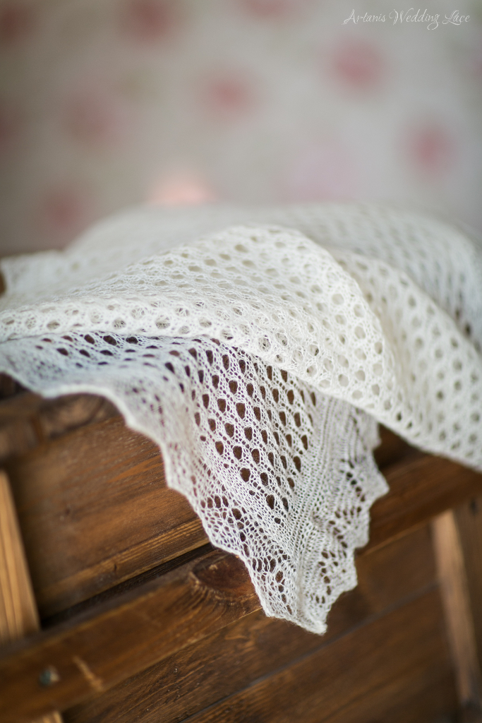 Elegant Wedding Shawl - Artanis Wedding Lace