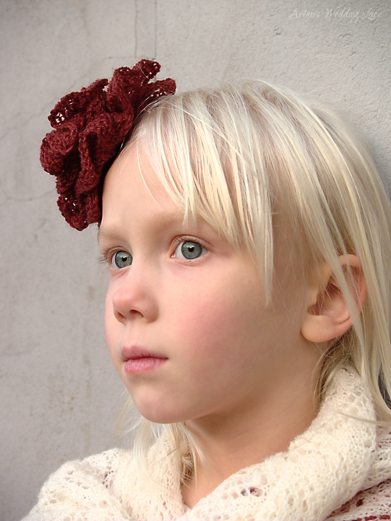 Reddish Brown Hair Flower - Artanis Wedding Lace