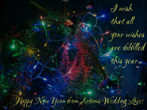 Happy New Year from Artanis Wedding Lace