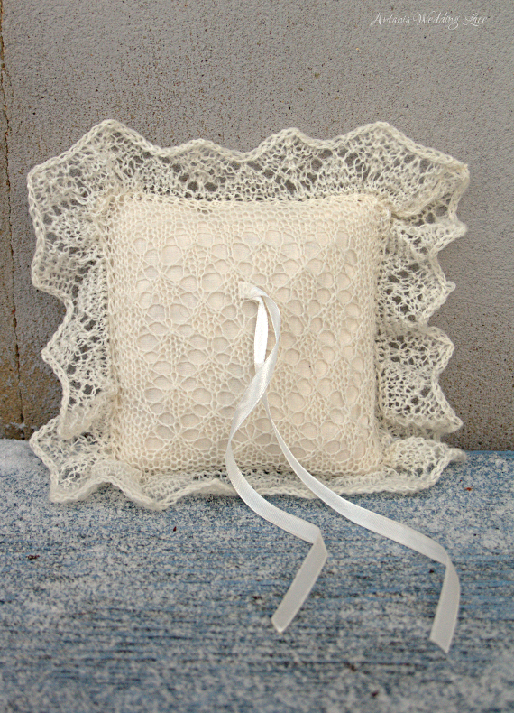 lace ring bearer pillow, wedding ring pillow, bridal accessory by Artanis wedding Lace