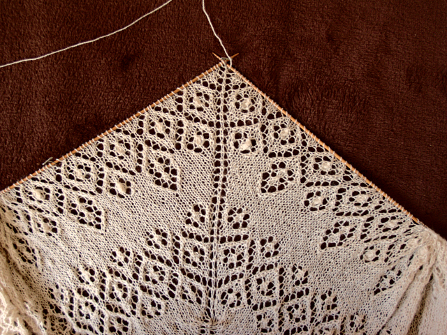 Secret knitting white Lamana Piura baby alpaca lace scarf vol3
