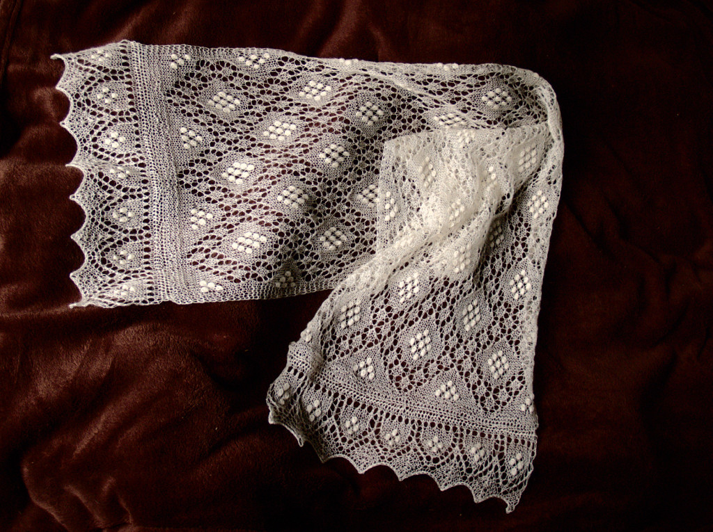 Knitted Sofia Scarf Lace Scarf by Artanis Wedding Lace