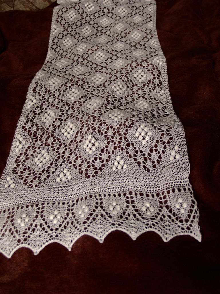 Sofia Scarf Knitted Haapsalu Scarf by Artanis Wedding Lace