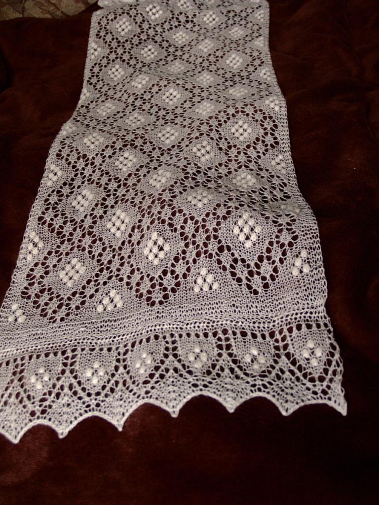 Sofia Scarf Knitted Haapsalu Scarf by Artanis Wedding Lace