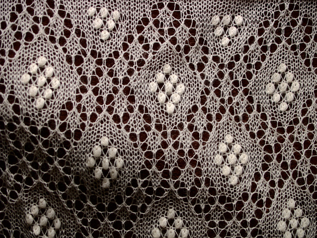 Sofia Scarf Knitted Lace Scarf by Artanis Wedding Lace