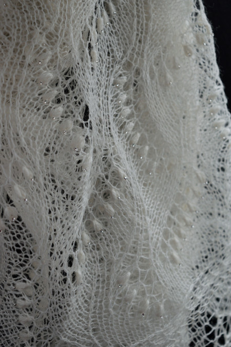 Beaded Lace Scarf for Bride