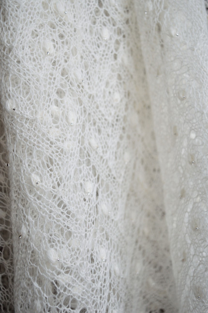 Beaded Lace Bridal Shawl